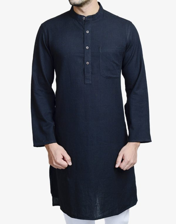 20150325-fabindia-cotton-dobby-azhar-long-kurta-d-black