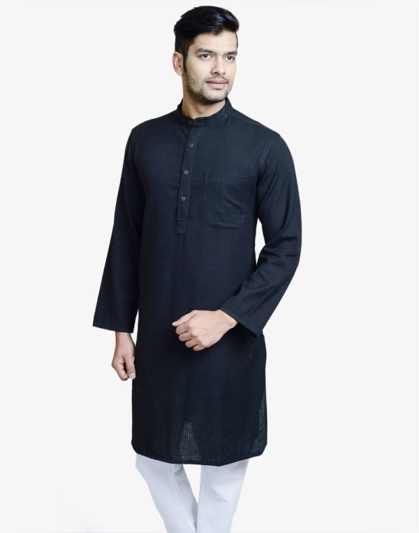 20150325-fabindia-cotton-dobby-azhar-long-kurta-f-black